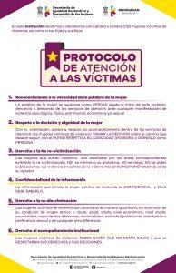 Cartel de Protocolo de Atención a Víctimas